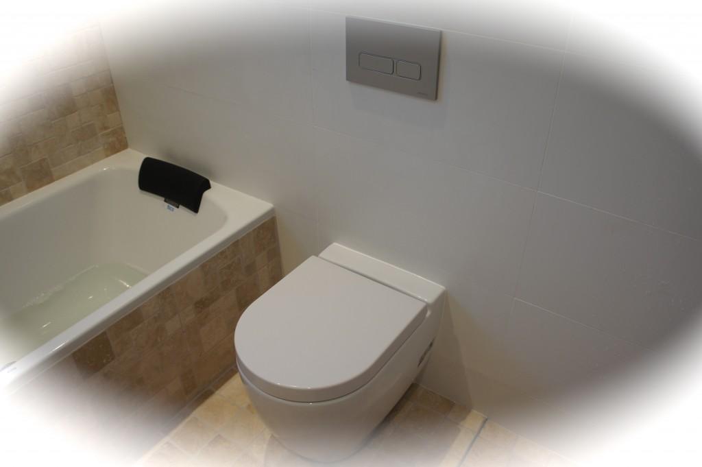 In-built cistern toilet.